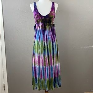 Lucky Brand bathing suit cover tie dye midi dress
